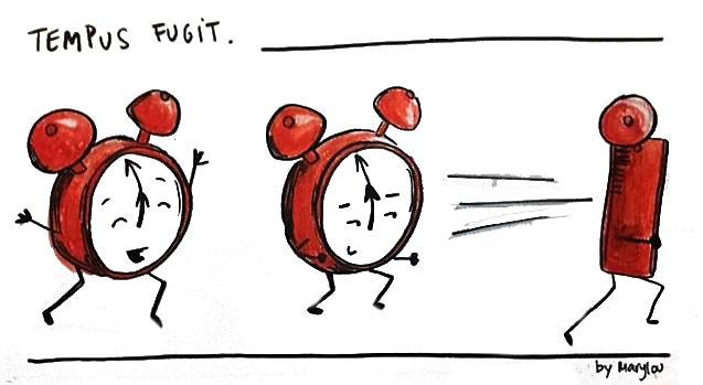 Un rellotge amb potes que fuig
